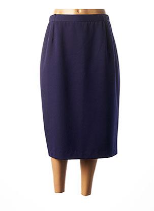 Jupe mi-longue violet CHRISTIAN MARRY pour femme