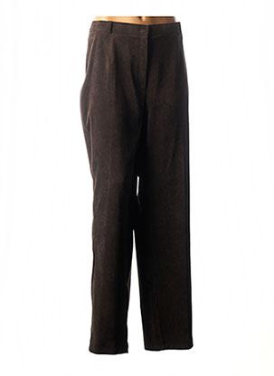 Pantalon chic marron RIO pour femme