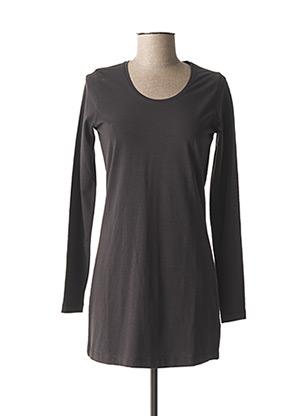 T-shirt manches longues gris SANDWICH pour femme