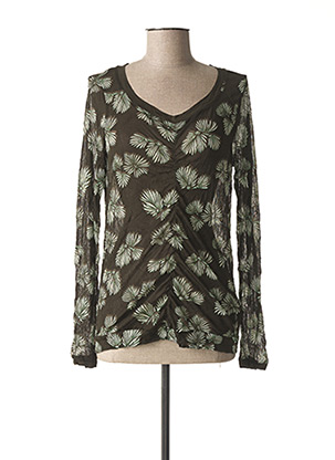 T-shirt manches longues vert SANDWICH pour femme