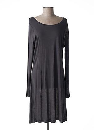 Robe mi-longue gris SANDWICH pour femme