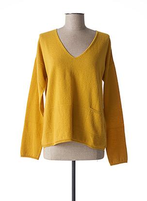 Robe mi-longue marron SANDWICH pour femme