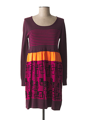 Robe pull violet PAUL BRIAL pour femme