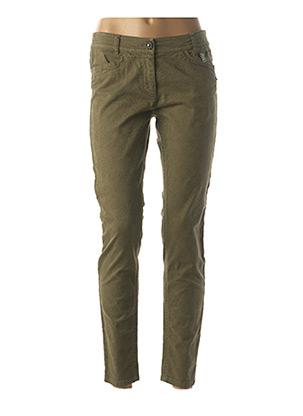 Jeans coupe slim vert MARC CAIN pour femme