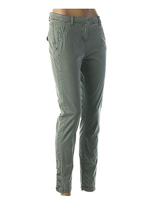 Pantalon casual vert SANDWICH pour femme
