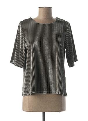 T-shirt manches courtes gris COMPAÑIA FANTASTICA pour femme