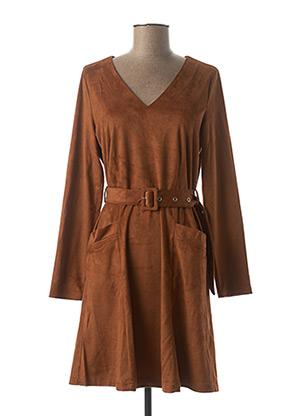 Robe mi-longue marron TIFFOSI pour femme