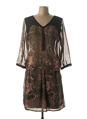 Robe mi-longue noir GARCIA pour femme