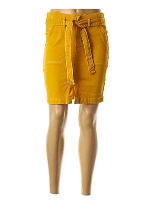 Jupe courte jaune ICHI pour femme