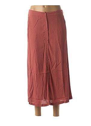 Jupe longue rose MINIMUM pour femme