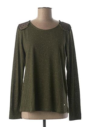 T-shirt manches longues vert KATMAI pour femme