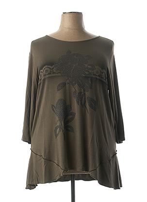 T-shirt manches longues vert QUATRE VINGT JOURS pour femme