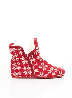 Chaussons/Pantoufles rouge MARPEN pour femme