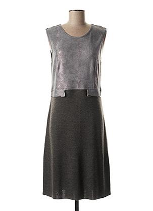 Robe mi-longue gris FUEGO WOMAN pour femme