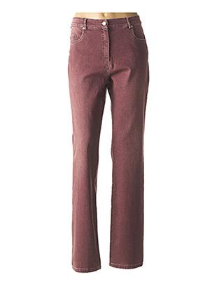 Jeans coupe droite rouge PAUL BRIAL pour femme