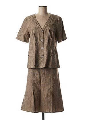 Veste/jupe marron TELMAIL pour femme