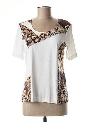 T-shirt manches courtes blanc GRIFFON pour femme