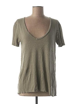 T-shirt manches courtes vert PLEASE pour femme