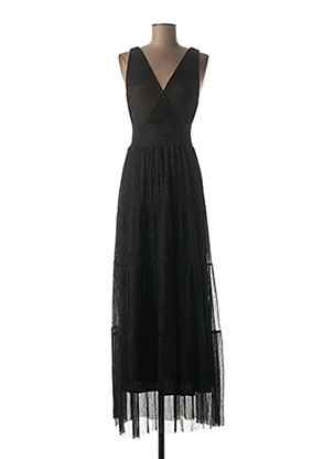Robe longue noir LA PETITE ETOILE pour femme