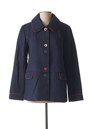 Manteau court bleu MOUSQUETON pour femme