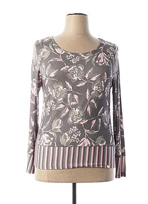 T-shirt manches longues gris PAUL BRIAL pour femme
