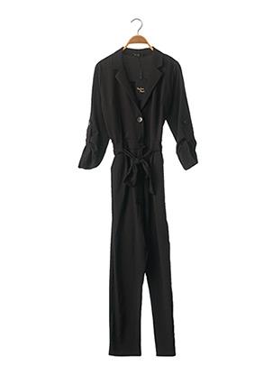 Combi-pantalon noir MADAME MARIUS pour femme