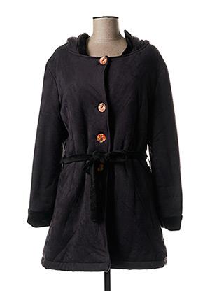 Manteau long noir LO! LES FILLES pour femme