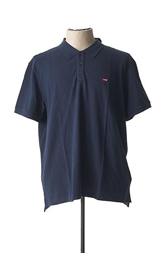 Polo manches courtes bleu LEVIS pour homme