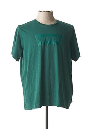 T-shirt manches courtes vert LEVIS pour homme