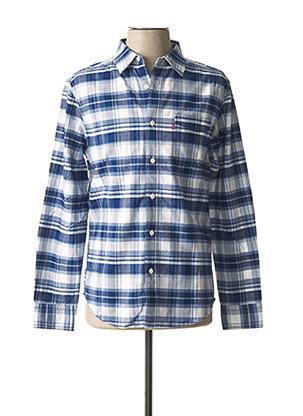 Chemise manches longues bleu LEVIS pour homme