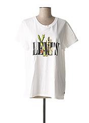 T-shirt manches courtes blanc LEVIS pour femme seconde vue