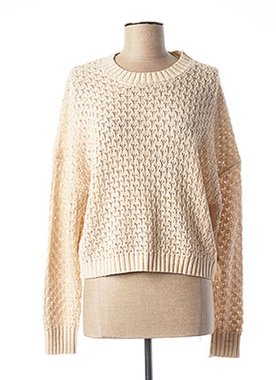 Pull col rond beige ONLY pour femme