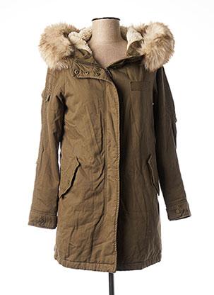 Manteau long vert ONLY pour femme