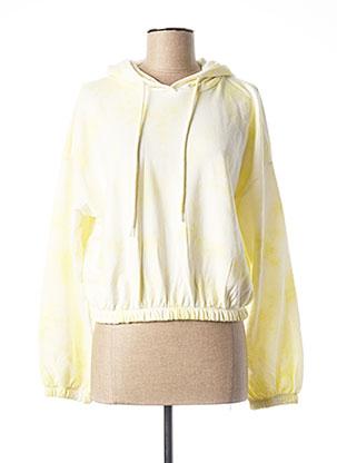 Sweat-shirt jaune ONLY pour femme