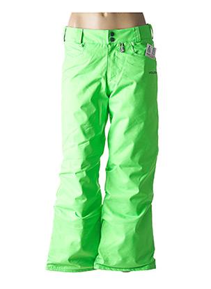 Pantalon casual vert VOLCOM pour femme