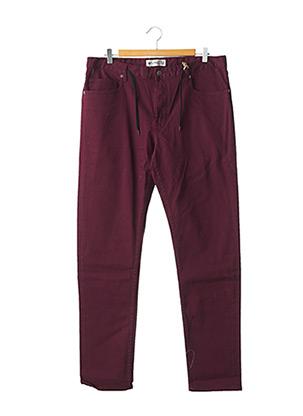 Jeans coupe droite rouge ELEMENT pour homme