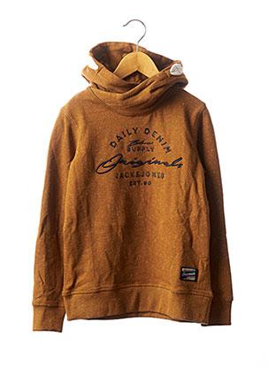 Sweat-shirt marron JACK & JONES pour garçon
