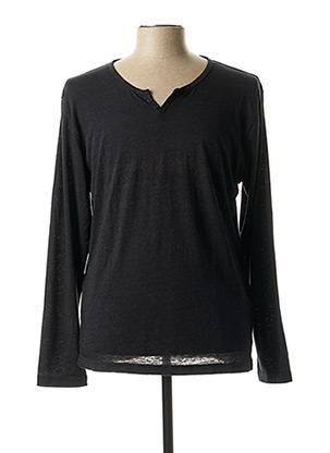 T-shirt manches longues noir PIONEER pour homme