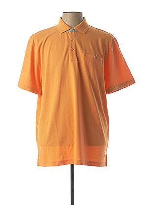Polo sans manche orange PIERRE CARDIN pour homme