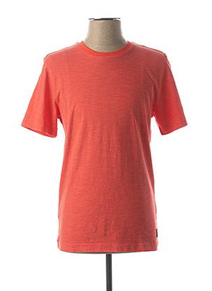 T-shirt manches courtes rouge PIERRE CARDIN pour homme