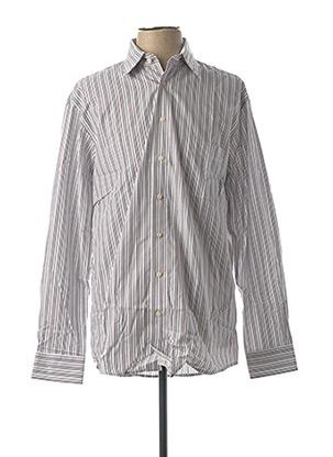 Chemise manches longues blanc LORENZO CALVINO pour homme