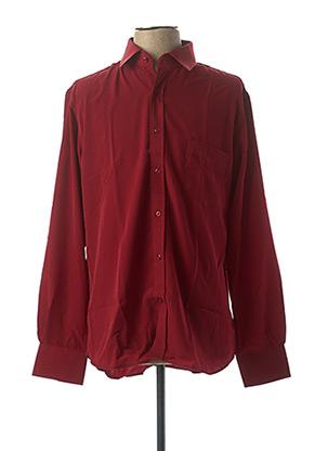 Chemise manches longues rouge CAP 10 TEN pour homme