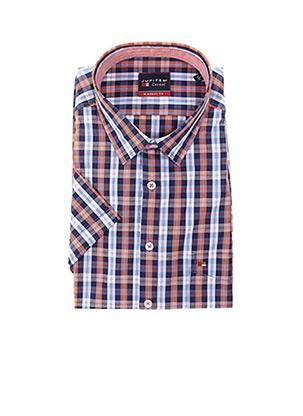 Chemise manches courtes orange JUPITER pour homme
