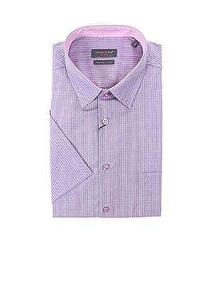 Chemise manches courtes violet JUPITER pour homme