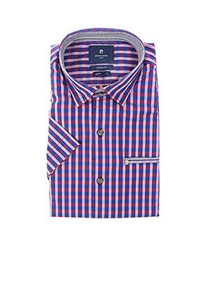 Chemise manches courtes violet PIERRE CARDIN pour homme