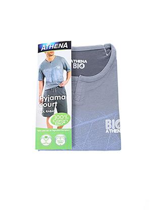 Pyjashort gris ATHENA pour homme