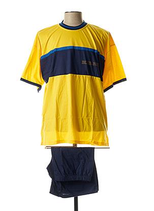 Pyjashort jaune SCHIESSER pour homme