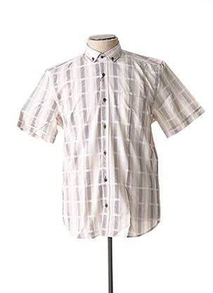 Chemise manches courtes beige CAP 10 TEN pour homme