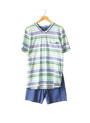 Pyjashort bleu RINGELLA pour homme