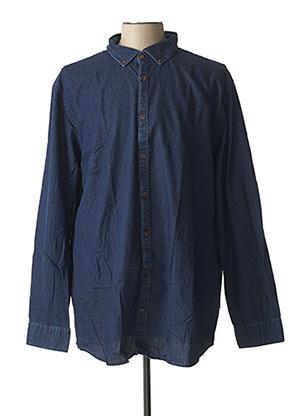 Chemise manches longues bleu CAMBRIDGE pour homme